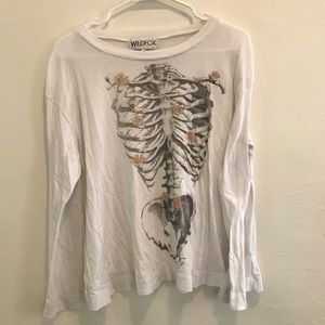 Wildfox skeleton long sleeve
